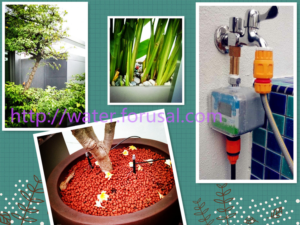 Automatic watering system for potted plants - Manual Garden Watering System